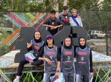 قهرمانی تیم بسکتبال KWC در مسابقات سه نفره